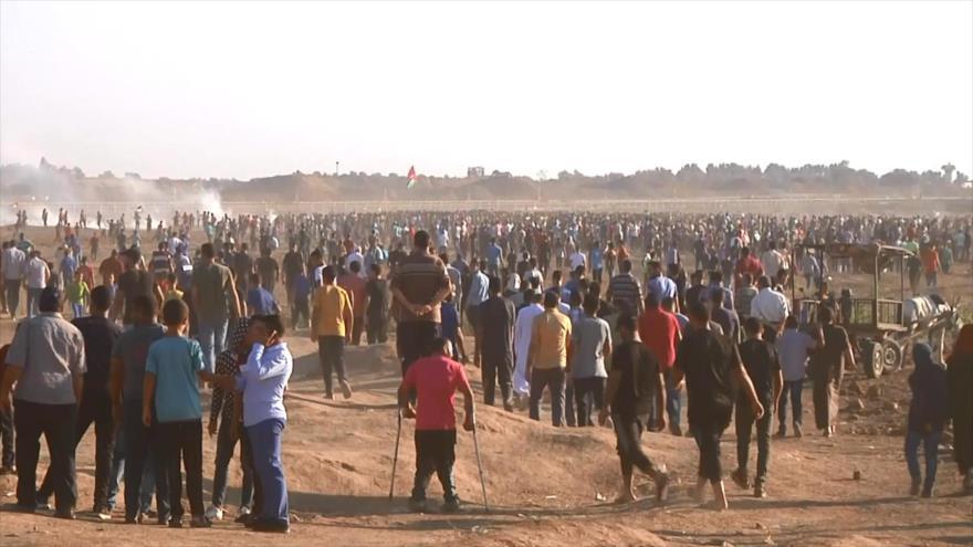 Palestinos siguen la Marcha de Retorno en Franja de Gaza