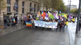 Miles de franceses se manifiestan contra exportación de armas