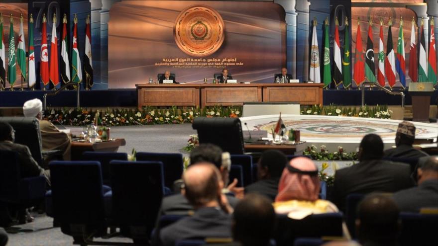 Una reunión de la Liga Árabe (LA), con la sede en la ciudad de El Cairo, capital de Egipto.