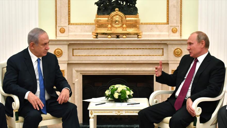 Putin rechaza versión israelí sobre derribo de avión ruso en Siria