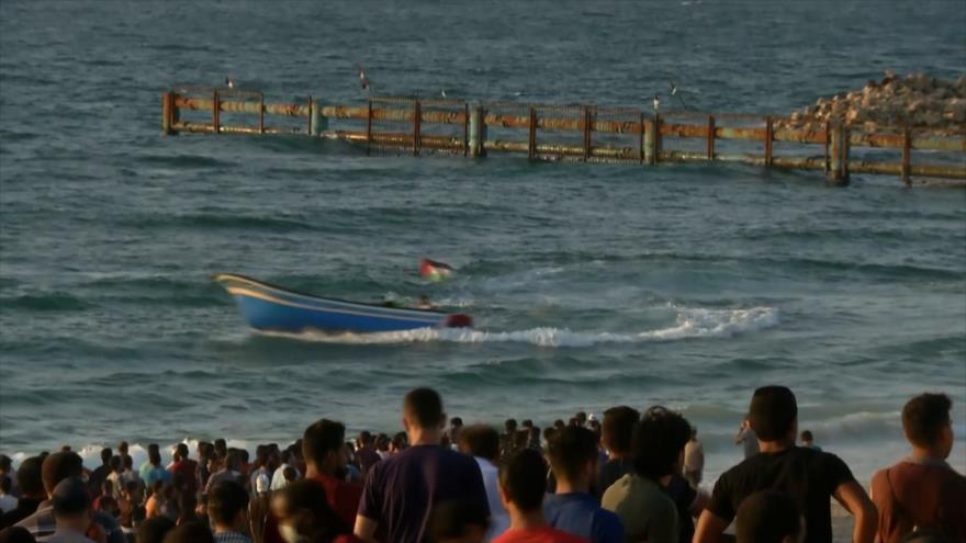 Palestinos repudian el bloqueo marítimo de Gaza por Israel