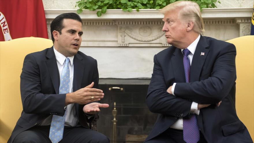 Rosselló: Trump trivializa sobre la estadidad de Puerto Rico