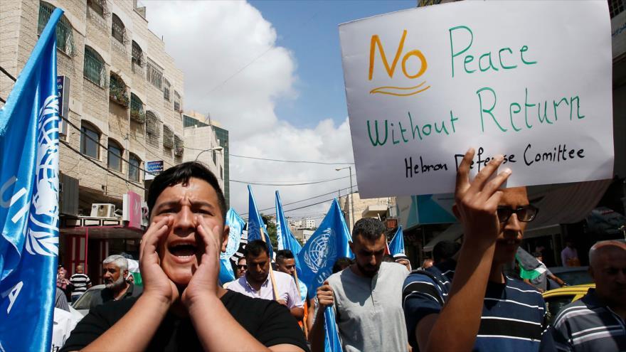 Empleados de la UNRWA en Gaza entran en huelga contra recortes de EEUU