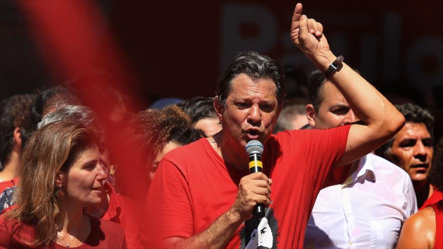 Sondeo: Haddad derrotaría a Bolsonaro en balotaje en Brasil