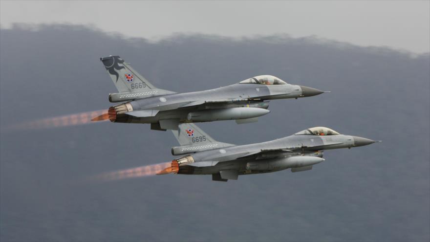 Cazas F-16 de las Fuerzas Armadas de Taiwán.