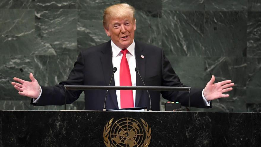 El presidente de EE.UU., Donald Trump, ofrece un discurso durante el 73.º periodo de sesiones de la AGNU, 25 de septiembre de 2018. (Foto: Reuters)
