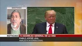 'Trump comenta una narrativa absolutamente falsa en la AGNU'