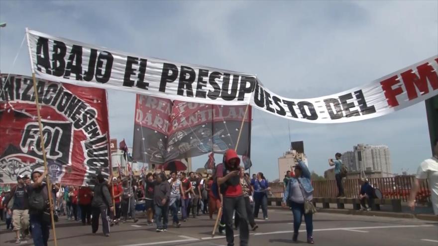 Finaliza jornada de 36 horas de protestas en Argentina