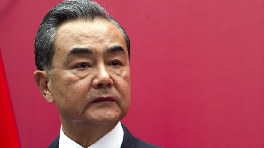El canciller de China, Wang Yi, en un acto en la embajada china en la República Dominicana, 21 de septiembre de 2018. (Foto: AFP)