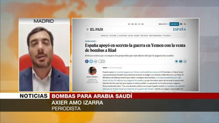 Amo Izarra: Ventas de armas de España a Riad benefician a EEUU