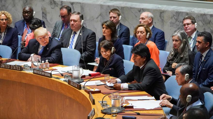 Evo Morales denuncia las políticas hostiles de EEUU contra Irán