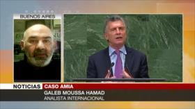 Hamad: Macri repite acusaciones de Israel contra Irán sobre AMIA