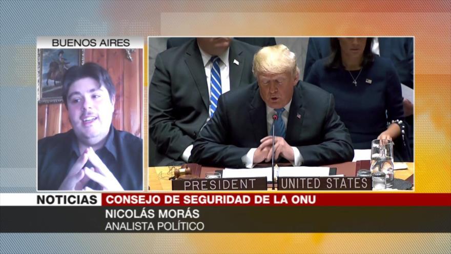 Morás: Trump no sabe entenderse con el mundo aparte de saquear