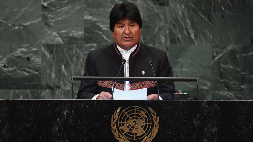 """Morales denuncia """"agresión descarada"""" de EEUU contra Venezuela"""
