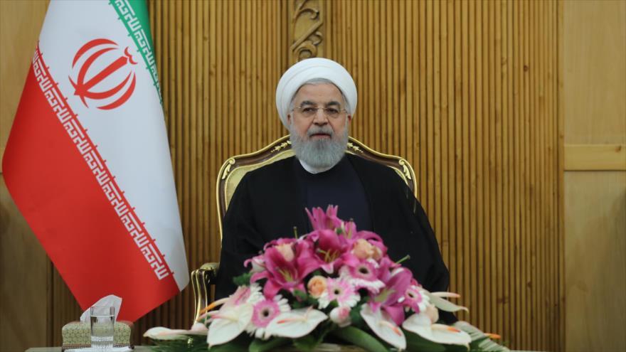 El presidente de Irán, Hasan Rohani, asiste a una rueda de prensa en Teherán tras su regreso de Nueva York, 27 de septiembre de 2018. (Foto:President.ir)