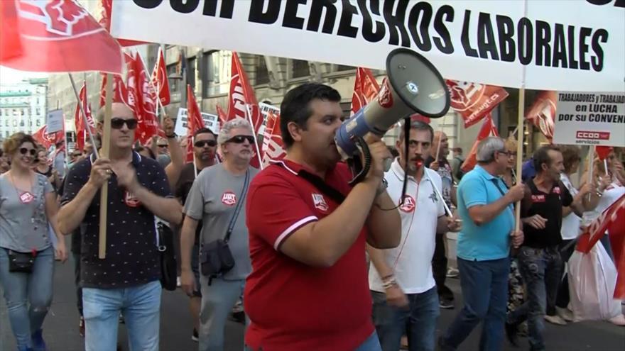 Sindicatos españoles protestan en el Día Mundial del Turismo