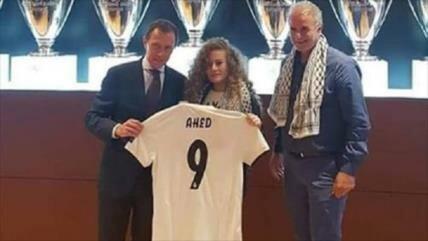 Real Madrid aprecia a la activista palestina AhedTamimi