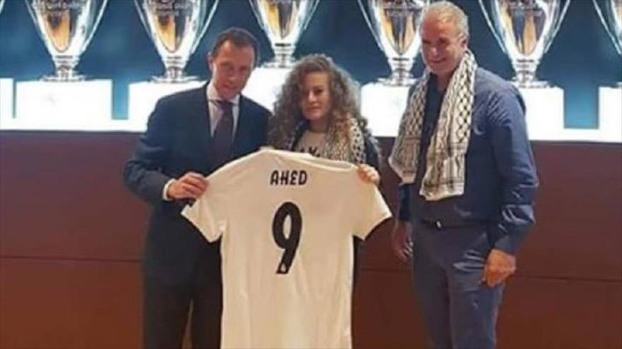 Real Madrid aprecia resistencia de la palestina Tamimi ante israelíes
