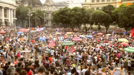 Miles de brasileños le dicen 'NO' a Jair Bolsonaro