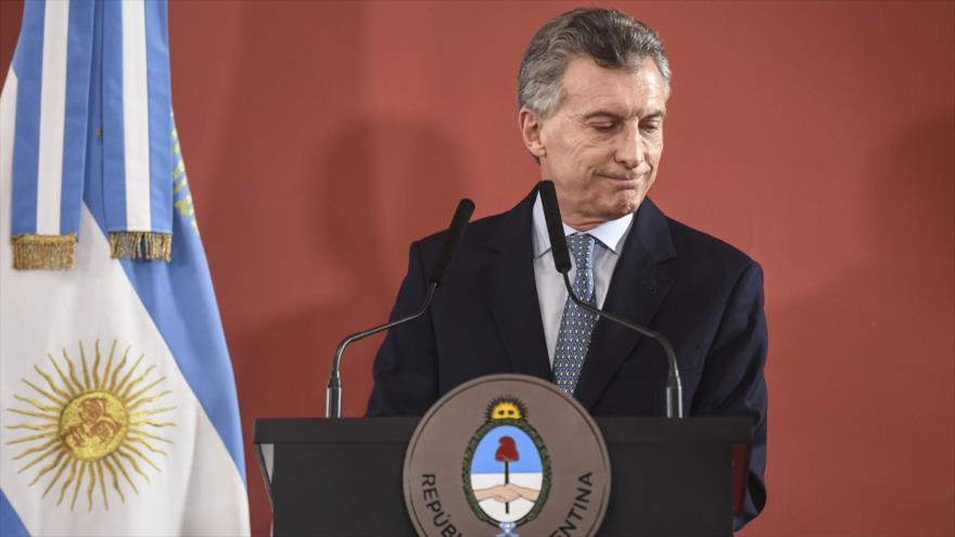 El presidente de Argentina, Mauricio Macri, en la Casa Rosada, Buenos Aires, 27 de septiembre de 2018. (Fuente: AFP).