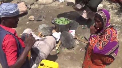 Yemeníes sobreviven comiendo hojas por ataques de Arabia Saudí