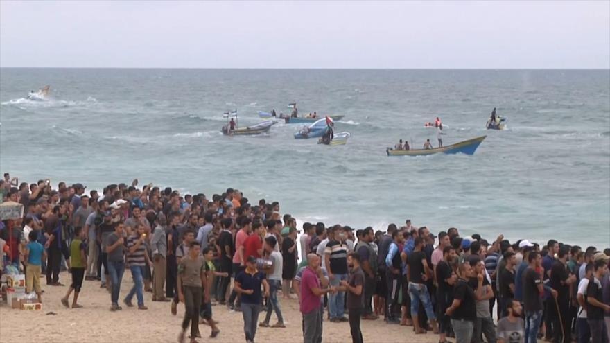 Décima marcha marítima en Gaza contra violencia israelí