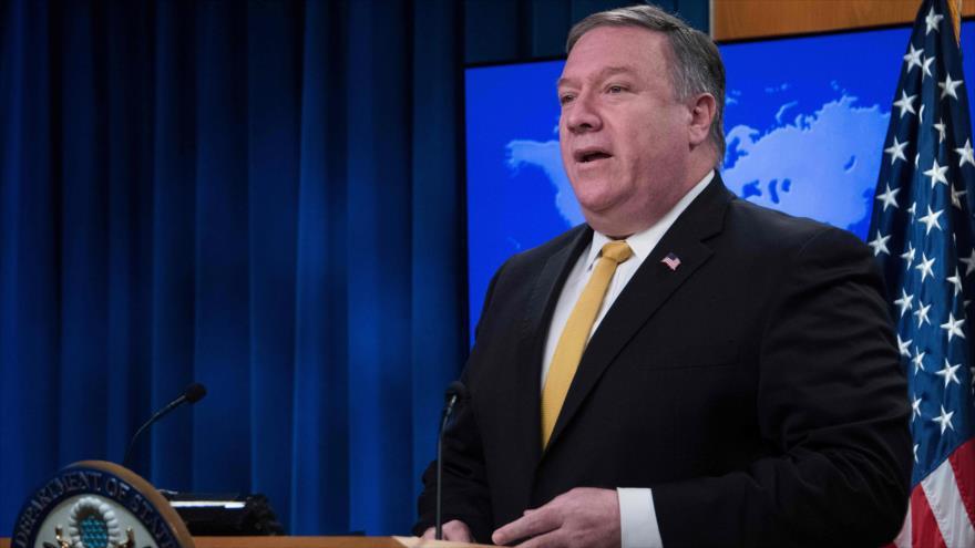 El secretario de Estado estadounidense, Mike Pompeo, ofrece una rueda de prensa en Washington, 3 de octubre de 2018. (Foto: AFP)