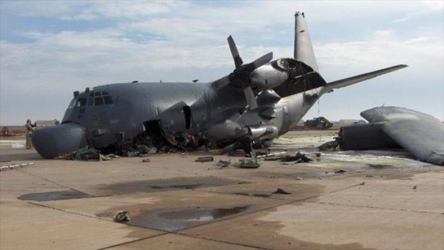 El avión C-130 de EE.UU. se estrella en Afganistán.