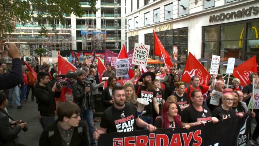 Empieza la huelga de Fast Food en el Reino Unido