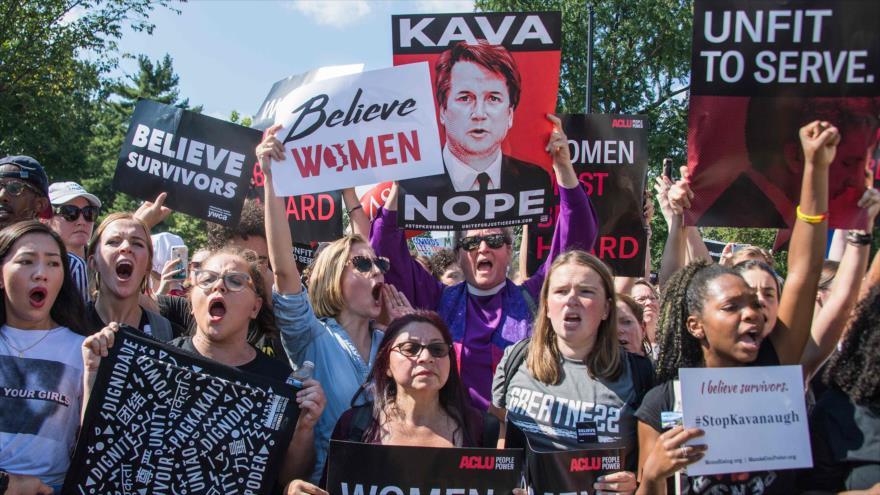 Miles protestan en EEUU contra candidato de Trump a Corte Suprema