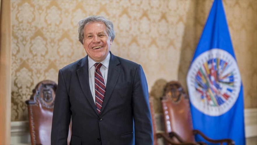 Luis Almagro, secretario general de la Organización de Estados Americanos (OEA), en su oficina en Washington, capital de EE.UU.