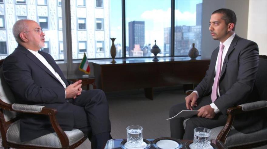 El canciller iraní, Mohamad Yavad Zarif, ofrece una entrevista a la cadena catarí de Al Jazeera, publicada el 5 de octubre de 2018. (Foto: Al Jazeera)
