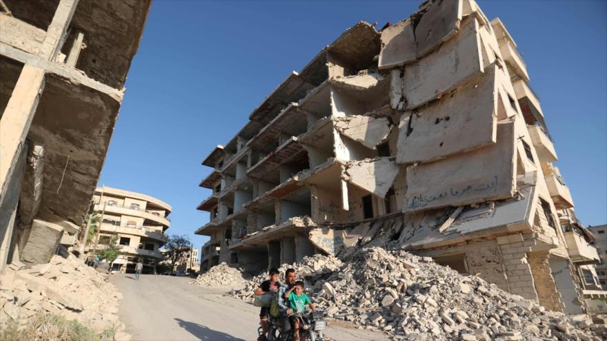 Vista general de la localidad de Maaret al-Numan, en el norte de la provincia de Idlib, en el noroeste de Siria, 27 de septiembre de 2018 (Foto: AFP).