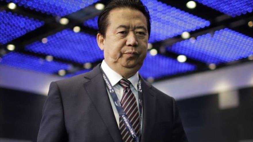 Meng Hongwei, jefe chino de la Organización Internacional de Policía Criminal (Interpol).