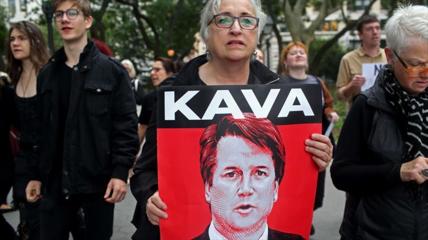 Protestas en Washington durante la confirmación del juez Brett Kavanaugh como miembro de la Corte Suprema de EE.UU., 6 de octubre de 2018. (Foto: AFP)
