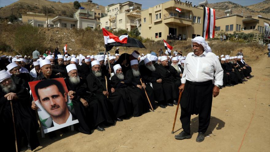 Drusos del Golán rechazan ocupación israelí y apoyan a Al-Asad