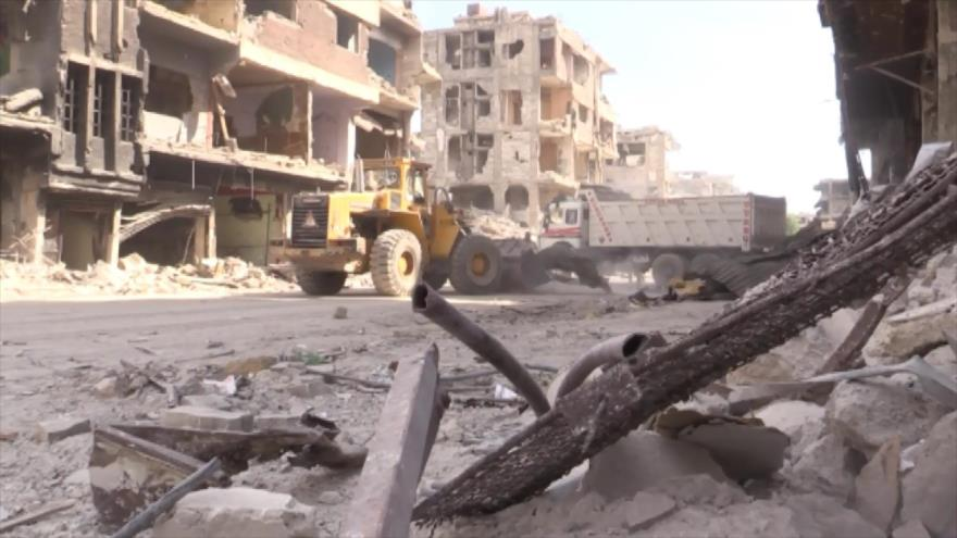 Comienza rehabilitación del campamento de Al-Yarmuk en Siria