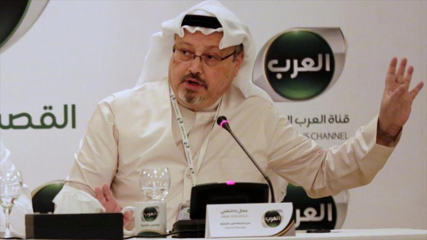 El periodista desaparecido saudí Yamal Jashoggi, en una conferencia de prensa en Manama, capital de Baréin.