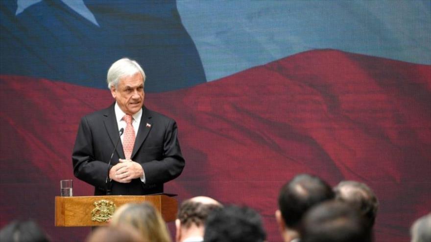 El presidente de Chile, Sebastián Piñera, en un acto público celebrado en Santiago, capital chilena, 5 de octubre de 2018.