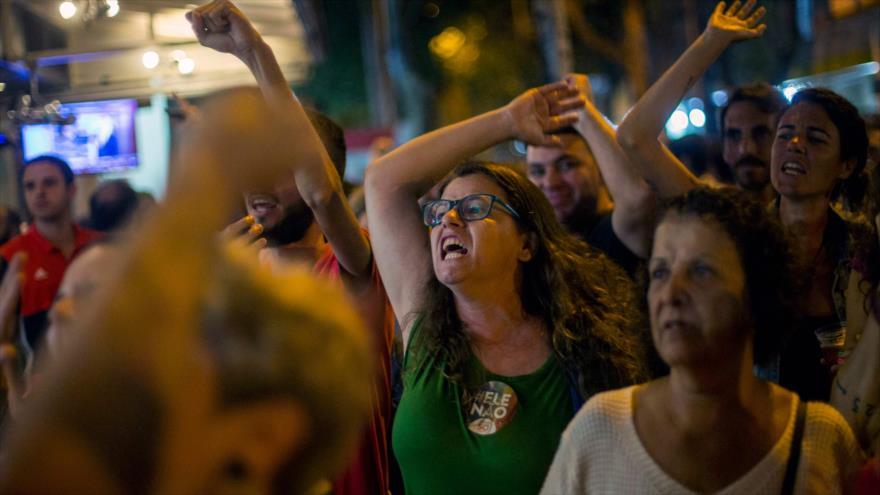 Vídeo: Brasileños celebran la 2ª vuelta de las presidenciales