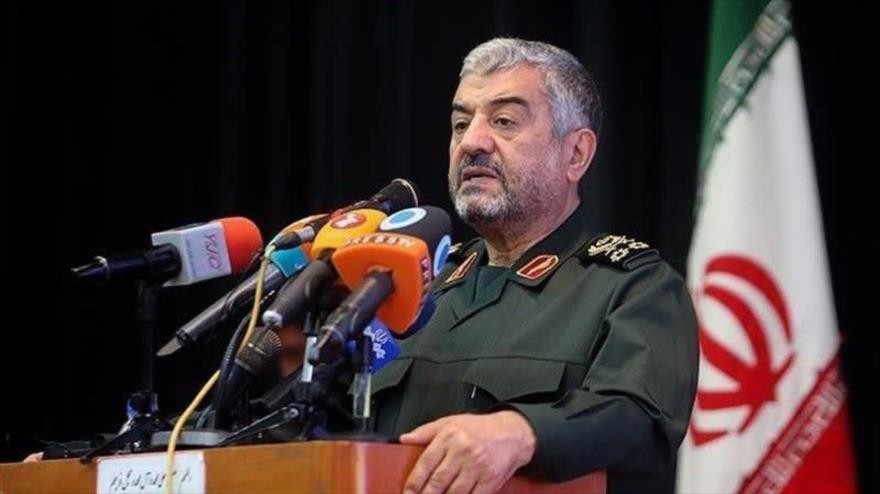 El comandante en jefe del Cuerpo de Guardianes de la Revolución Islámica (CGRI) de Irán, el general de división Mohamad Ali Yafari.