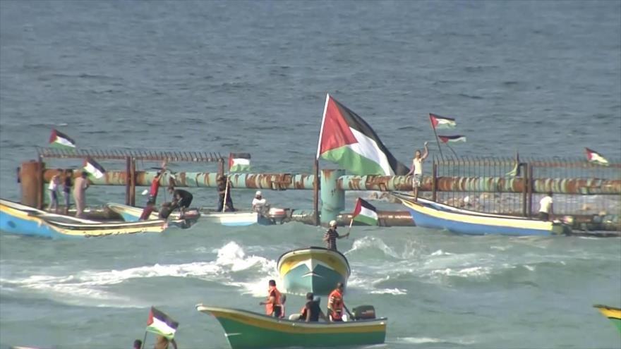 Undécima marcha marítima en Gaza para romper bloqueo israelí