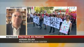 Zelaia: Protestas muestran creciente impopularidad de Macron