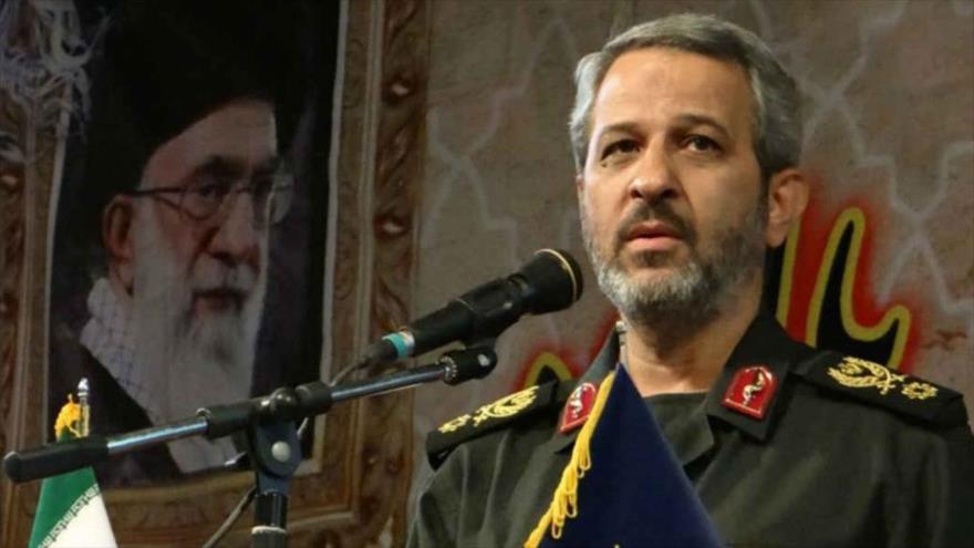 El comandante en jefe de la Resistencia Popular de Irán (Basich), el general de brigada Qolam Hosein Qeibparvar.