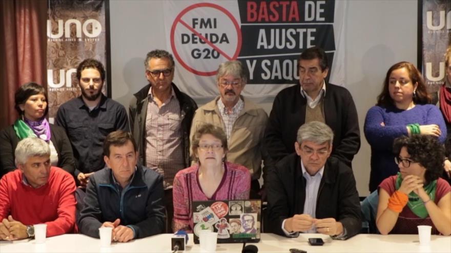 Convocan a movilizaciones contra el G20 en Buenos Aires