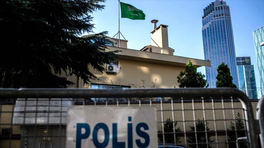 El consulado de Arabia Saudí en la ciudad turca de Estambul, 9 de octubre de 2018 (Foto: AFP).