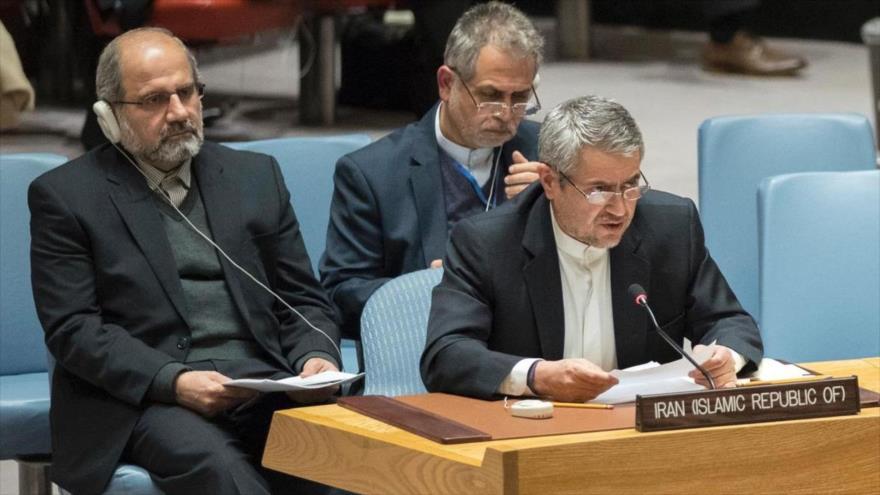 El embajador iraní ante la Organización de las Naciones Unidas (ONU), Qolamali Joshru.