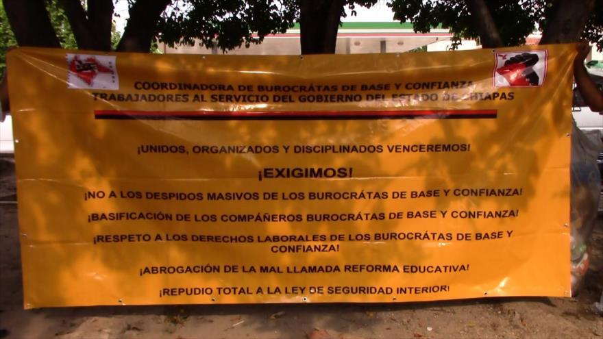 Gobierno de Chiapas deja sin pago a burócratas
