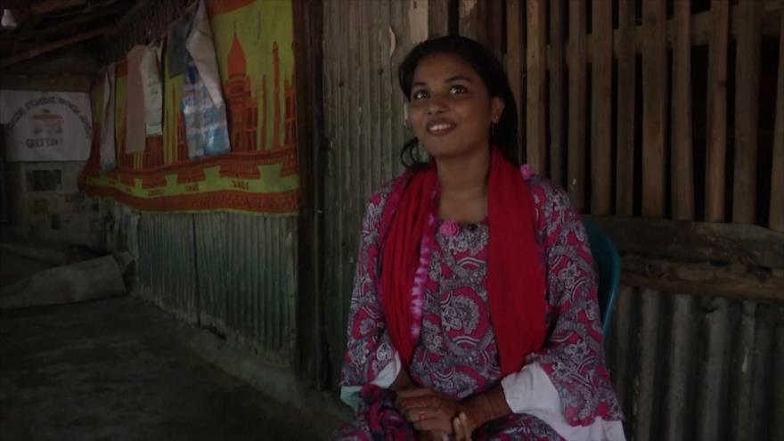 La joven refugiada Rohingya quiere ser la voz de su minoría