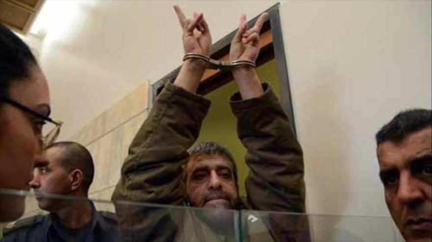 El activista sirio Sedqi Suleyman al-Maqet comparece en una corte del régimen israelí.